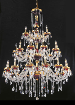 Elegant Lighting - 7810G45G/RC - 30 Light Chandelier - Alexandria - Gold