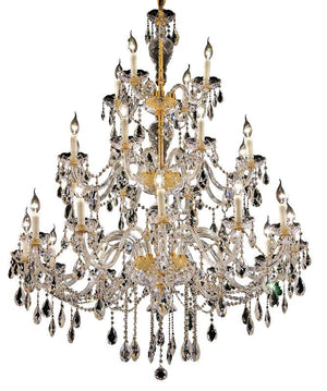 Elegant Lighting - 7829G45G/SS - 24 Light Chandelier - Alexandria - Gold