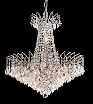 Elegant Lighting - 8032D24C/RC - 11 Light Chandelier - Victoria - Chrome