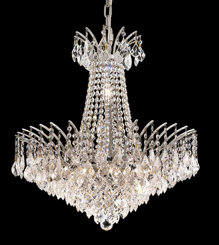 "Elegant Lighting 11 Light Chandelier 24.00"" Chrome"