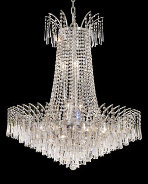 Elegant Lighting - 8032D29C/SA - 16 Light Chandelier - Victoria - Chrome