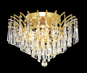 Elegant Lighting - 8032F16G/RC - Six Light Flush Mount - Victoria - Gold