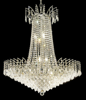 Elegant Lighting - 8033D29C/RC - 16 Light Chandelier - Victoria - Chrome