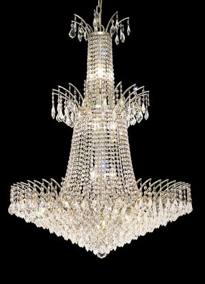 Elegant Lighting - 8033G32C/RC - 18 Light Chandelier - Victoria - Chrome