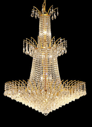 Elegant Lighting - 8033G32G/SA - 18 Light Chandelier - Victoria - Gold