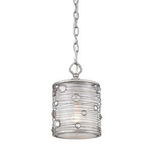 Golden - 1993-M1L PS - One Light Mini Pendant - Joia - Peruvian Silver