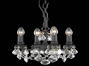 Elegant Lighting - 9104D10DB/SS - Four Light Pendant - Lillie - Dark Bronze