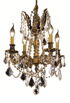 Elegant Lighting - 9204D17FG/SA - Four Light Pendant - Rosalia - French Gold