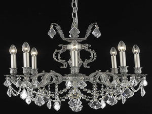 Elegant Lighting - 9508D24PW/SA - Eight Light Chandelier - Marseille - Pewter