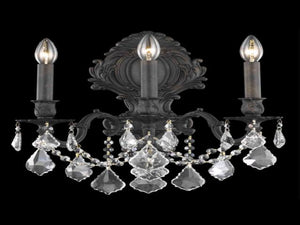 Elegant Lighting - 9603W14DB/RC - Three Light Wall Sconce - Monarch - Dark Bronze