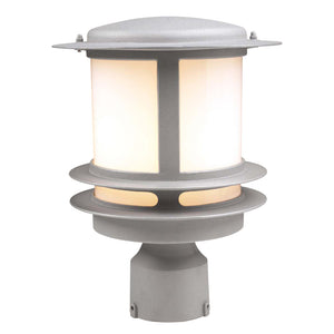 PLC Lighting - 1896 SL - One Light Outdoor Post Mount - Tusk - Silver