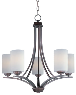 Maxim - 20035SWOI - Five Light Chandelier - Deven - Oil Rubbed Bronze