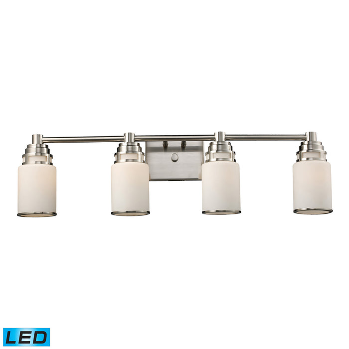 "Elk Lighting Four Light Vanity 32.00"" Satin Nickel"