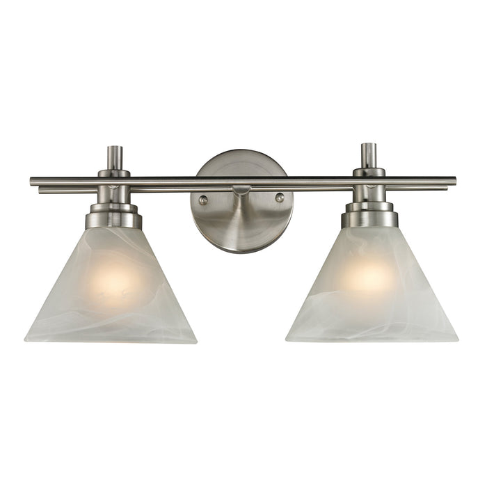 "Elk Lighting Two Light Vanity 18.00"" Brushed Nickel"