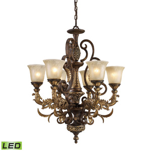 Elk Lighting - 2163/6-LED - Six Light Chandelier - Regency - Burnt Bronze