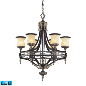 Elk Lighting - 2431/6-LED - Six Light Chandelier - Georgian Court - Antique Bronze, Dark Umber