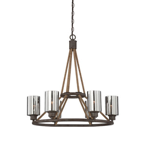 Savoy House - 1-5150-6-32 - Six Light Chandelier - Maverick - Artisan Rust