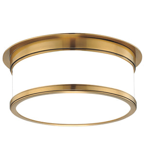 Hudson Valley - 712-AGB - Two Light Flush Mount - Geneva - Aged Brass