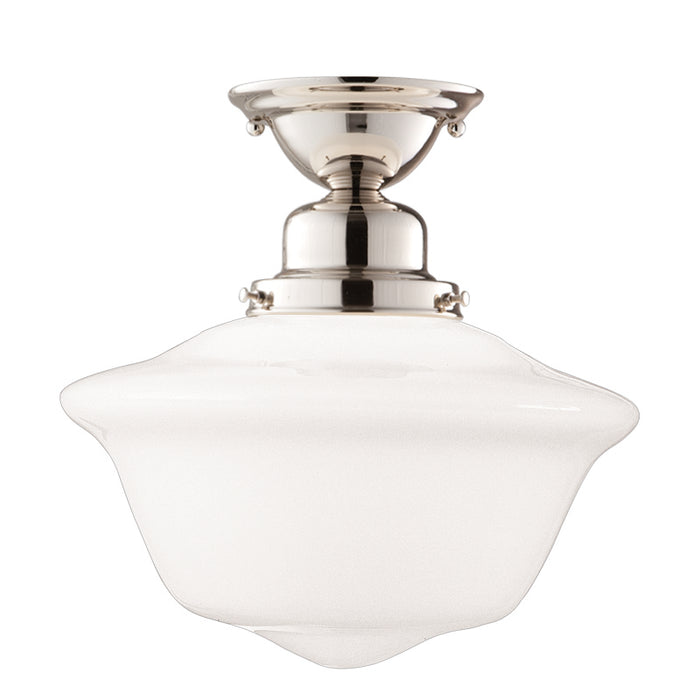 "Hudson Valley One Light Semi Flush Mount 15.00"" Polished Nickel"