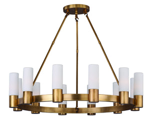 Maxim - 22419SWNAB - 12 Light Chandelier - Contessa - Natural Aged Brass