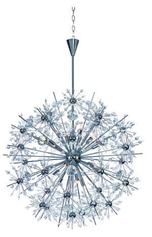 Maxim - 39746BCPC - 18 Light Chandelier - Starfire - Polished Chrome