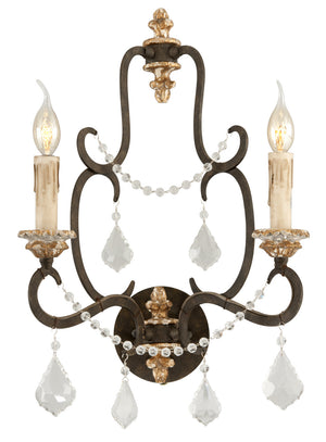 Troy Lighting - B3512 - Two Light Wall Sconce - Bordeaux - Parisian Bronze