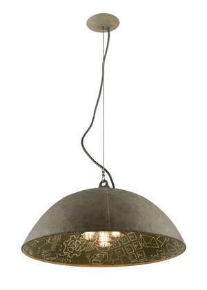Troy Lighting - F3655 - Five Light Pendant - Relativity - Salvage Zinc With Chalkboard
