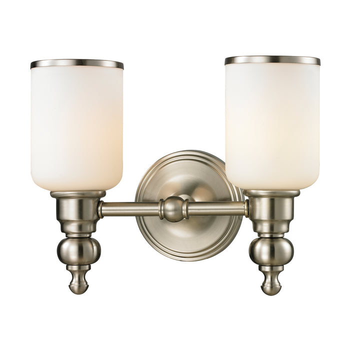 "Elk Lighting Two Light Vanity 13.00"" Brushed Nickel"