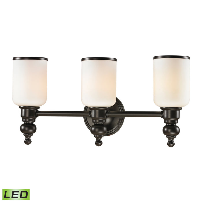"Elk Lighting Three Light Vanity 21.00"" Oil Rubbed Bronze"