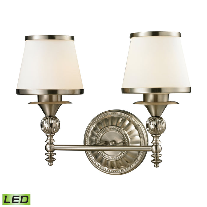 "Elk Lighting Two Light Vanity 16.00"" Brushed Nickel"