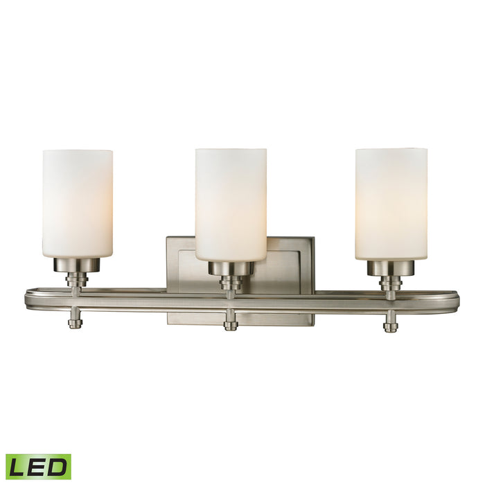 "Elk Lighting Three Light Vanity 23.00"" Brushed Nickel"