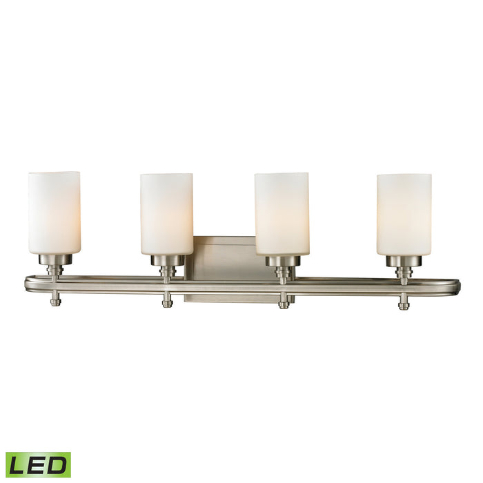 "Elk Lighting Four Light Vanity 31.00"" Brushed Nickel"