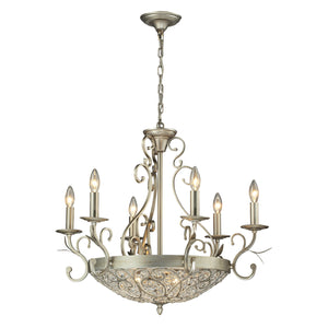 Elk Lighting - 11696/6+3 - Nine Light Chandelier - Andalusia - Aged Silver