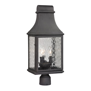 Elk Lighting - 47075/3 - Three Light Post Mount - Forged Jefferson - Charcoal