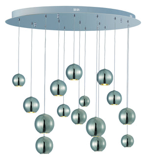 ET2 - E22198-PC - LED Pendant - Bollero - Polished Chrome