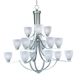 Maxim - 11228FTSN - 15 Light Chandelier - Axis - Satin Nickel