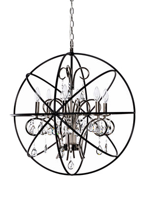 Maxim - 25144ARPN - Six Light Pendant - Orbit - Anthracite / Polished Nickel