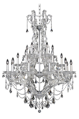 Allegri - 023452-010-FR001 - 24 Light Chandelier - Brahms - Chrome