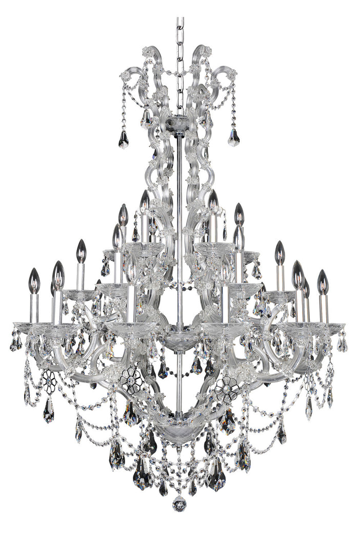 "Allegri 24 Light Chandelier 41.00"" Chrome"