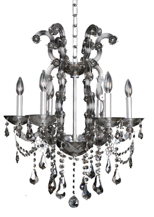 Allegri - 023455-010-FR006 - Six Light Chandelier - Brahms - Chrome