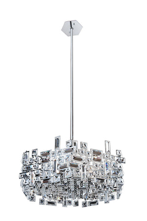 Allegri - 11197-010-FR001 - Six Light Pendant - Vermeer - Chrome
