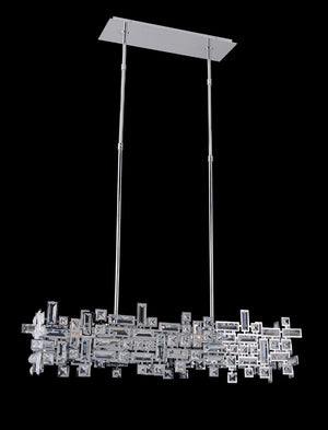 Allegri - 11198-010-FR001 - Six Light Island Pendant - Vermeer - Chrome
