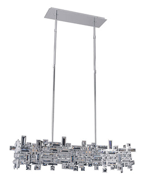 Allegri - 11198-010-SE001 - Six Light Island Pendant - Vermeer - Chrome