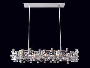 Allegri - 11199-010-FR001 - Eight Light Island Pendant - Vermeer - Chrome