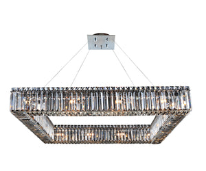 Allegri - 11712-010-FR001 - 16 Light Pendant - Quadro - Chrome