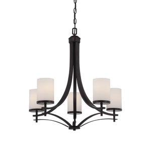 Savoy House - 1-330-5-13 - Five Light Chandelier - Colton - English Bronze
