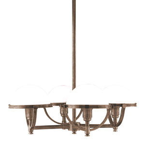 Hudson Valley - 3314-HB - Four Light Chandelier - Stratford - Historic Bronze