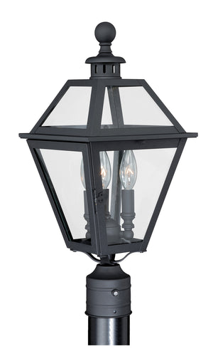 Vaxcel - T0082 - Three Light Outdoor Post Mount - Nottingham - Textured Black