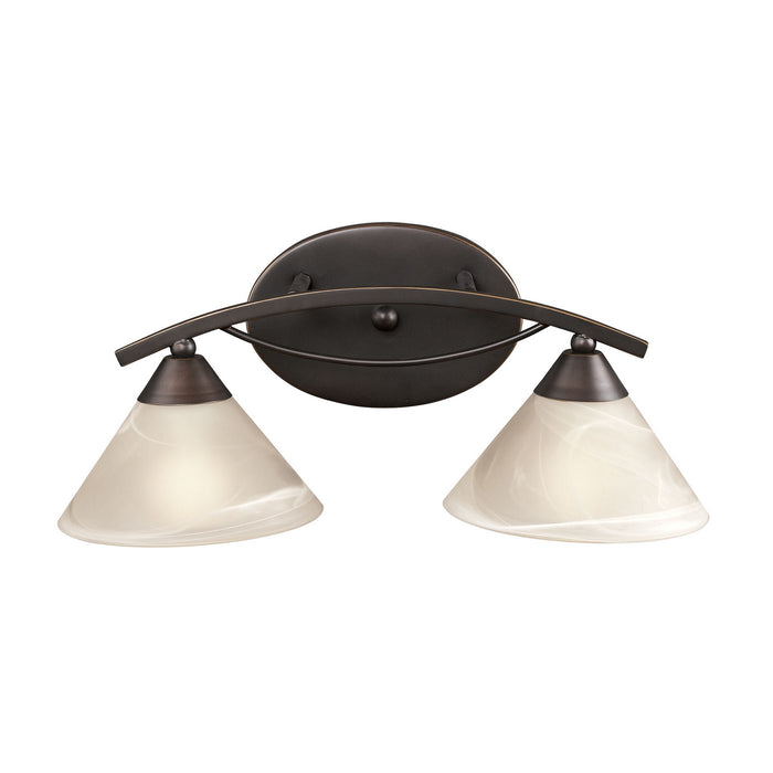 "Elk Lighting Two Light Vanity 18.00"" Oil Rubbed Bronze"