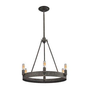 Elk Lighting - 31820/6 - Six Light Chandelier - Lewisburg - Malted Rust